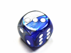 Gemini® 30mm w/pips Blue-Steel/white d6 DG3023