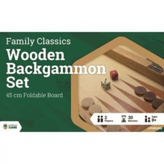 LPG Wooden Folding Backgammon Case 45cm
