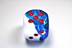 Gemini® 50mm w/pips Astral Blue-White/red d6  DG5057