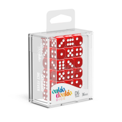 Oakie Doakie Dice D6 12 mm Solid - Red (36)