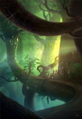 Zendikar Forest A1 Art Print