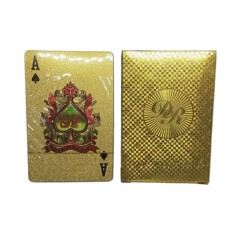 Dal Rossi Italy Luxury 24k 99.9% Genuine Gold Plated Playing cards