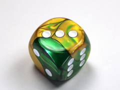 Gemini® 30mm w/pips Gold-Green/white d6 DG3025