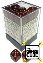 36 Ruby w/gold Glitter CHX27904