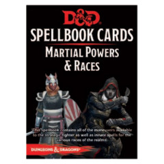 D&D Spellbook Cards Martial Powers and Races Deck