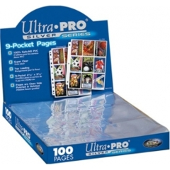 Box of 100 Ultra Pro sliver series 9 Pocket Pages
