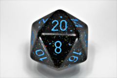 Speckled 34mm Blue Stars™ d20 XS2001