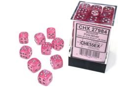 Borealis® 12mm d6 Pink/silver Luminary™ Dice Block™ (36 dice) 27984