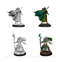 Magic the Gathering Unpainted Miniatures Elf Fighter & Elf Cleric