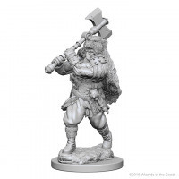 Nolzur's Marvelous Unpainted Miniatures - Human Barbarian (Male)