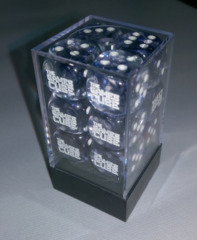 _Games Cube Dice 16mm Clear With Blue
