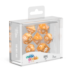 Oakie Doakie Dice RPG Set Marble - Orange (7)