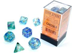 Nebula® Polyhedral Oceanic™/gold Luminary™ 7-Die Set  27556