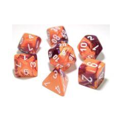 Gemini Orange-Purple with White 7-Die Set 30021
