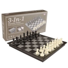 Magnetic Games - 3 in 1 Magnetic Chess/Checkers 12.5