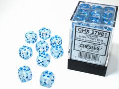 Borealis® 12mm d6 Icicle™/light blue Luminary™ Dice Block™ (36 dice)  27981