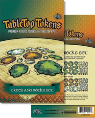 Tabletop Tokens - Trees and Rocks Set