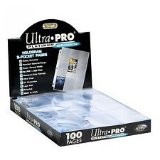 ultra pro platinum series 9-pocket 100 card pages