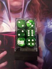 The Games Cube Dice - Emerald and white