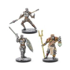 D&D Collectors Series Miniatures Eberron Warforged Thief, Cleric & Fighter (3)