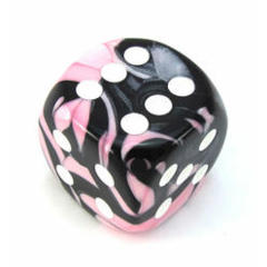 50mm d6 w/pips Black-Pink w/white - DG5030