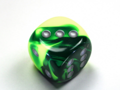 Gemini® 30mm w/pips Green-Yellow/silver d6  DG3054