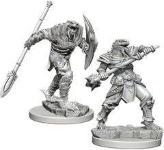 D&D Unpainted Minis - Dragonborn Male Fighter Variaw/ Spear