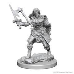 D&D Unpainted Minis - Human Barbarian (Female)