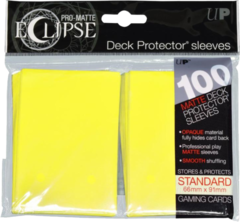 Ultra Pro - Pro Matte Eclipse: Deck Protector 100 Count Pack - Yellow