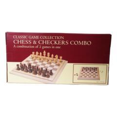 Chess & Checkers Combo
