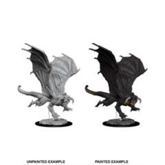 Nolzurs Marvelous Unpainted Miniatures - Young Black Dragon
