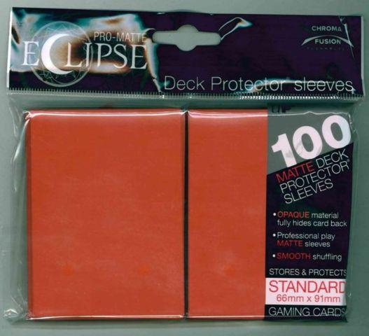 Ultra Pro - Pro Matte Eclipse: Deck Protector 100 Count Pack - Orange