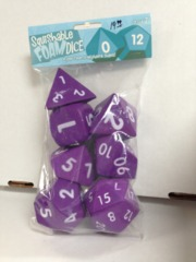2 inch Squishable Dice Set, Purple