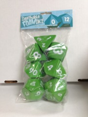 2 inch Squishable Dice Set, Lt Green