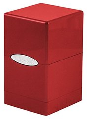 Fire & Ice Satin Tower Deck Box - Red
