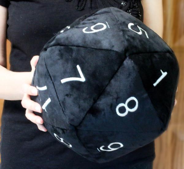 Jumbo D20 Plush: Black