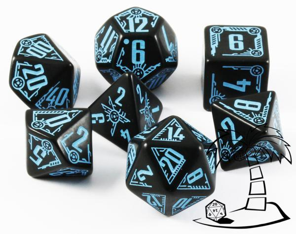 Galactic Dice Set - Black & Blue