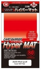 KMC Hyper Mat Red Sleeves (80) x 30 Packs