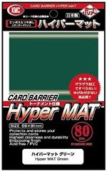 KMC Hyper Mat Green Sleeves (80) x 30 Packs