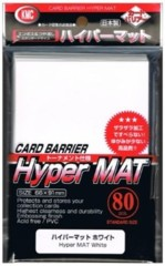 KMC Hyper Mat White Sleeves (80)