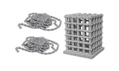izKids Deep Cuts Unpainted Miniatures: W6 Cage & Chains