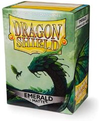 Dragon Shield Box of 100 in Matte Emerald