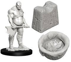 WizKids Deep Cuts Unpainted Miniatures: W6 Executioner & Chopping Block