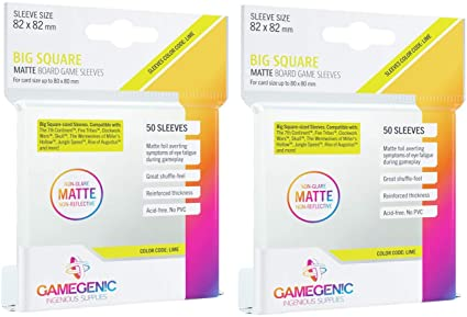 Gamegenic - Big Square Matte Board Game Sleeves
