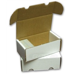Card Storage Box, 400-count corrugated cardboard