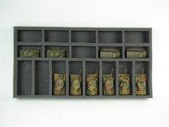 Flames of War: Generic 10 Small 8 Medium Tank Tray