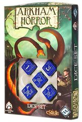 Arkham Horror Dice Set - Blessed Blue / Silver