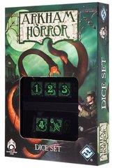 Arkham Horror Dice Set - Black / Green