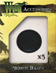 Premium Bases: Black 40mm (5)