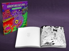 D&D Accessory: Adventures Outlined coloring book